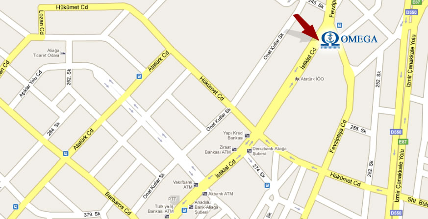 Omega Survey location on map